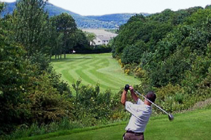 An image of a golfer playing at Inverness Golf Club, Inverness, Scottish Highlands